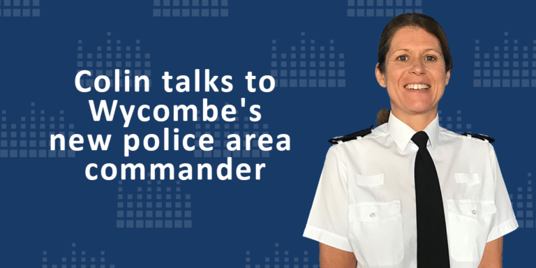 Colin talks to Wycombe's new police area commander