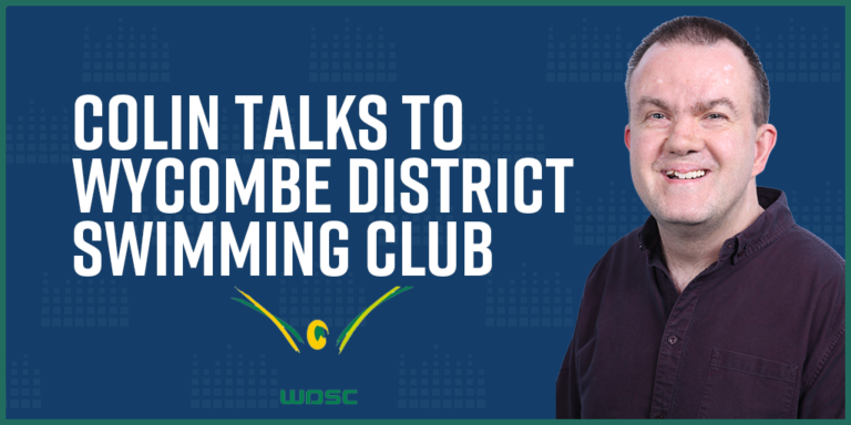 Colin talks to Wycombe District Swimming Club